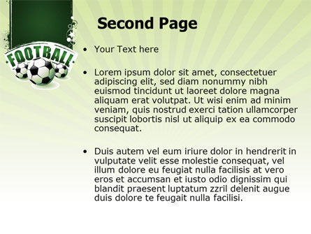Football World Cup PowerPoint Template, Slide 2, 06996, Sports — PoweredTemplate.com