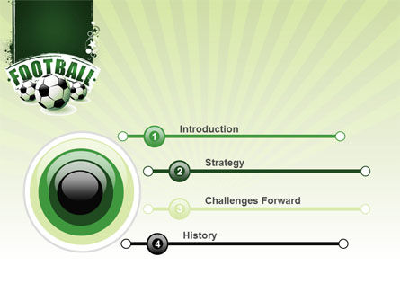 Football World Cup PowerPoint Template, Slide 3, 06996, Sports — PoweredTemplate.com