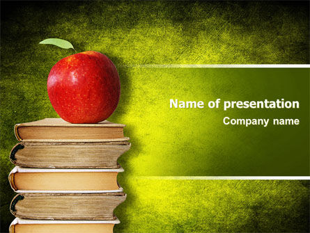 Apple and Books PowerPoint Template