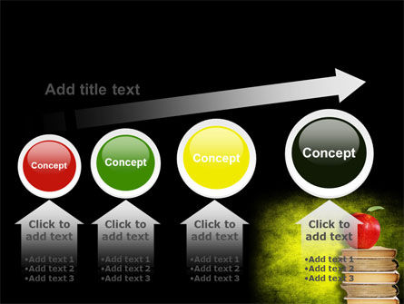 Apple and Books PowerPoint Template Slide 13