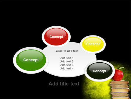 Apple and Books PowerPoint Template Slide 16