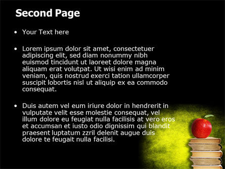 Apple and Books PowerPoint Template Slide 2