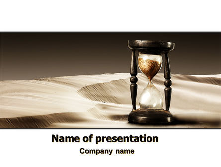 Sands of Time PowerPoint Template, 06998, Consulting — PoweredTemplate.com