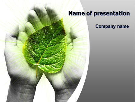 Nature & Environment: Glowing Leaf PowerPoint Template #06999