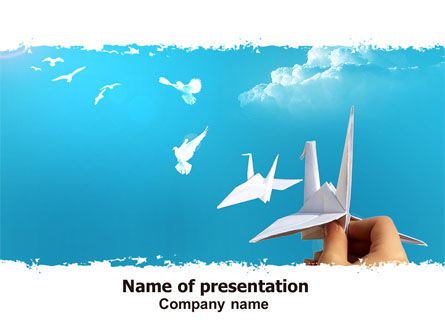 Business Concepts: Paper Birds PowerPoint Template #07000