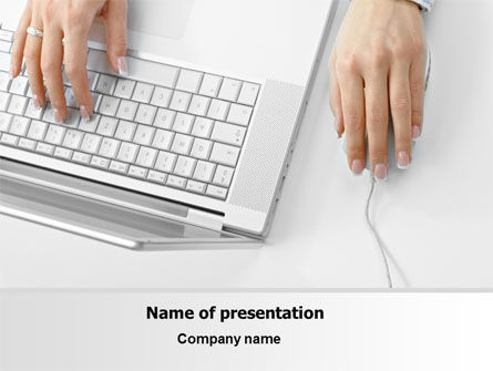 Laptop User PowerPoint Template, 07001, Computers — PoweredTemplate.com
