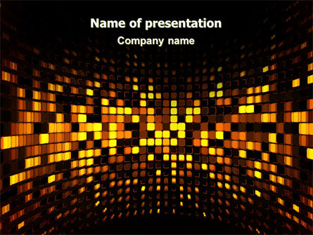 Mosaic Lights PowerPoint Template, 07003, Abstract/Textures — PoweredTemplate.com