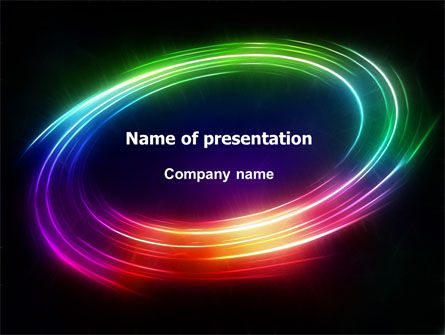 Abstract/Textures: Rainbow Circle PowerPoint Template #07005