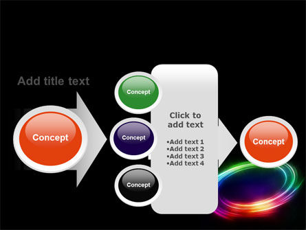 Rainbow Circle PowerPoint Template Slide 17
