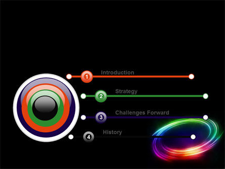 Rainbow Circle PowerPoint Template Slide 3