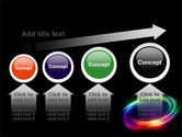 Rainbow Circle PowerPoint Template#13