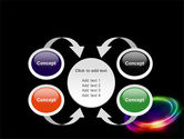 Rainbow Circle PowerPoint Template#6
