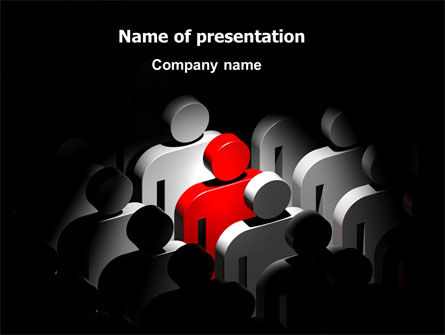 One of Many PowerPoint Template, 07008, Education & Training — PoweredTemplate.com