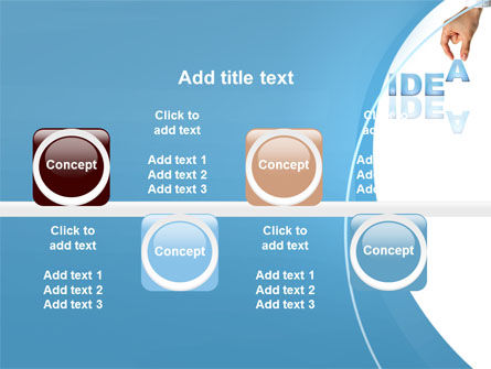 Creating an Idea PowerPoint Template Slide 19