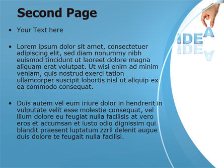 Creating an Idea PowerPoint Template Slide 2