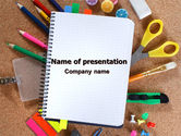 Business: Office Stuff PowerPoint Template #07010