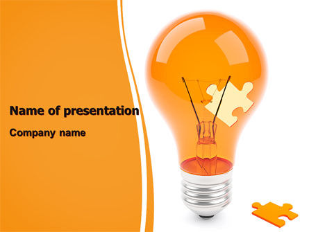Idea Puzzle PowerPoint Template, 07011, Consulting — PoweredTemplate.com