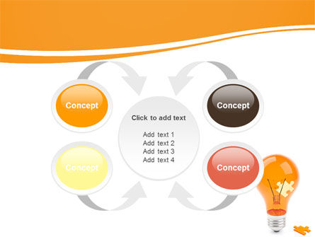Idea Puzzle PowerPoint Template Slide 6