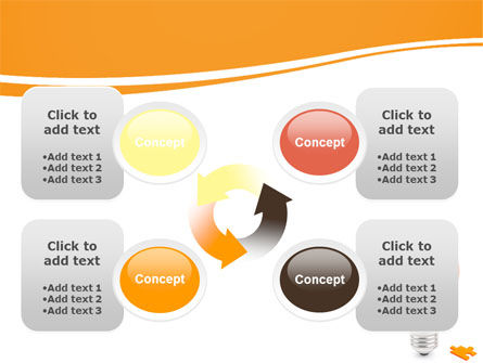 Idea Puzzle PowerPoint Template Slide 9