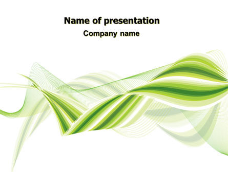 Abstract/Textures: Green Leaf Abstract PowerPoint Template #07013