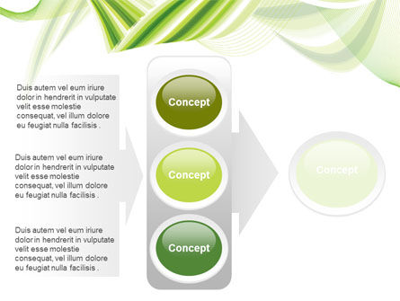 Green Leaf Abstract PowerPoint Template Slide 11