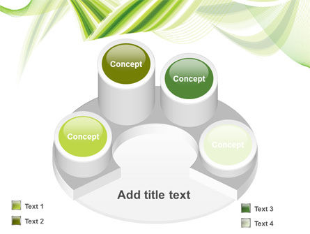 Green Leaf Abstract PowerPoint Template Slide 12