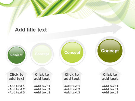 Green Leaf Abstract PowerPoint Template Slide 13