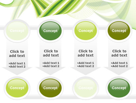 Green Leaf Abstract PowerPoint Template Slide 18