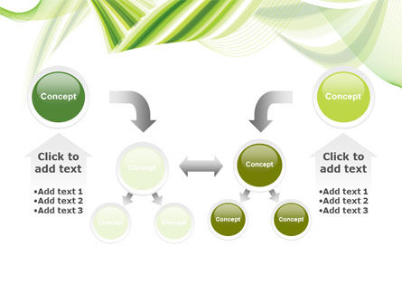 Green Leaf Abstract PowerPoint Template Slide 19