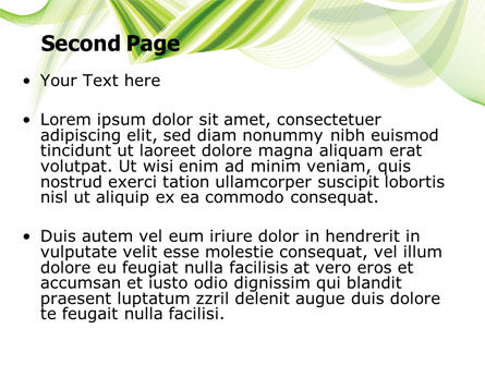 Green Leaf Abstract PowerPoint Template Slide 2