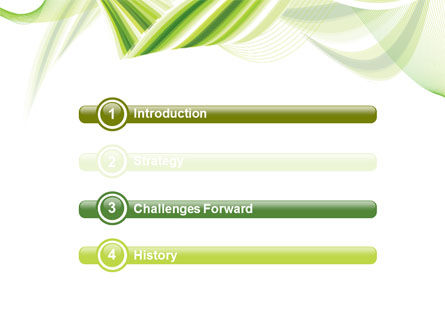 Green Leaf Abstract PowerPoint Template Slide 3