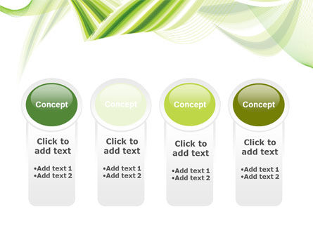 Green Leaf Abstract PowerPoint Template Slide 5