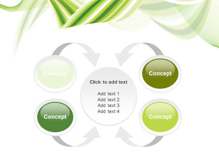 Green Leaf Abstract PowerPoint Template Slide 6