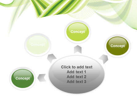 Green Leaf Abstract PowerPoint Template Slide 7