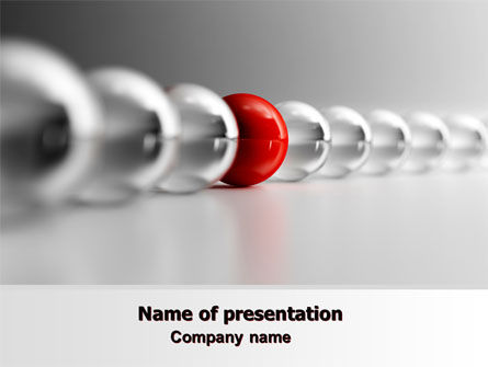 Business Concepts: Red Ball PowerPoint Template #07014