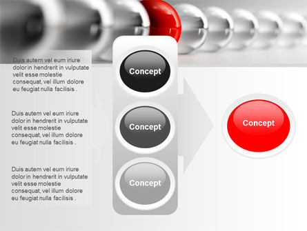 Red Ball PowerPoint Template Slide 11