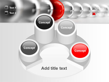 Red Ball PowerPoint Template Slide 12