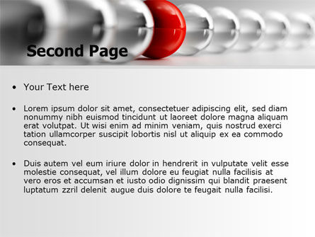 Red Ball PowerPoint Template Slide 2