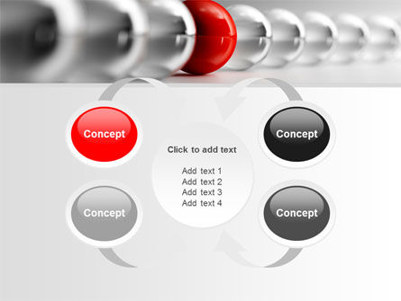 Red Ball PowerPoint Template Slide 6