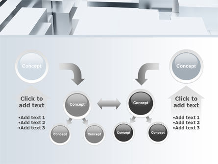 3D Blocks Free PowerPoint Template Slide 19