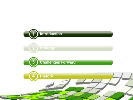 Green Pixelated Theme PowerPoint Template Slide 3