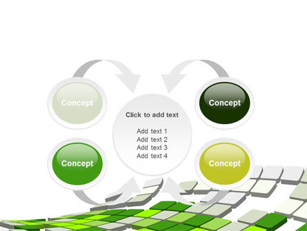 Green Pixelated Theme PowerPoint Template Slide 6