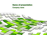 Abstract/Textures: Green Pixelated Theme PowerPoint Template #07017
