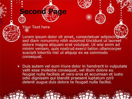 Red New Year Theme PowerPoint Template, Slide 2, 07018, Holiday/Special Occasion — PoweredTemplate.com
