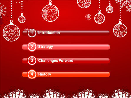 Red New Year Theme PowerPoint Template, Slide 3, 07018, Holiday/Special Occasion — PoweredTemplate.com
