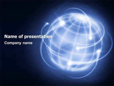 World Communication PowerPoint Template, 07019, Global — PoweredTemplate.com