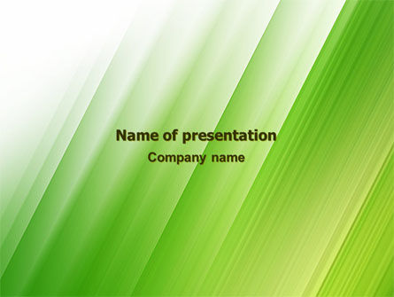 Clean Green Theme Free PowerPoint Template