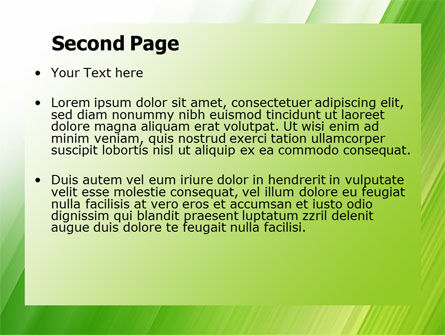 Clean Green Theme Free PowerPoint Template Slide 2