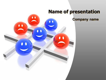 D TicTacToe Powerpoint Template Backgrounds