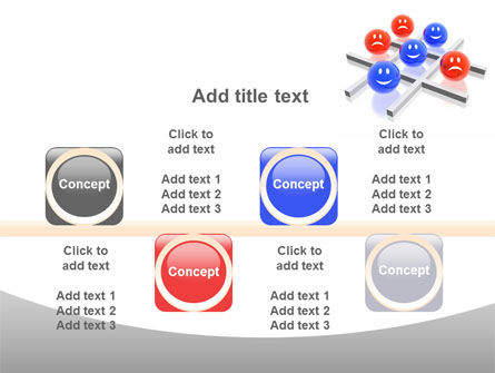 3D Tic-tac-toe PowerPoint Template Slide 18